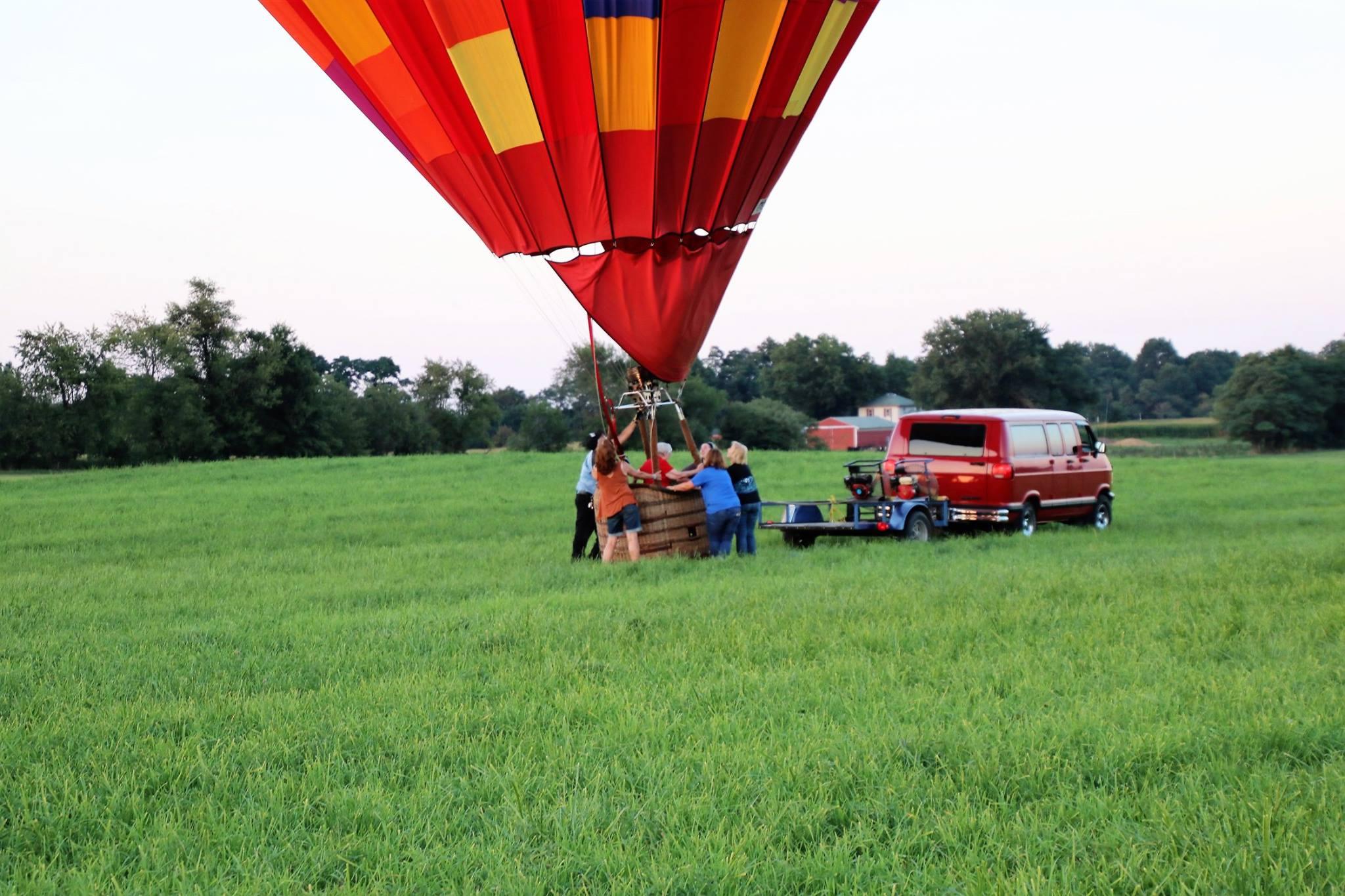 Make a wish hot air balloon ride with Sister Pat Wilson