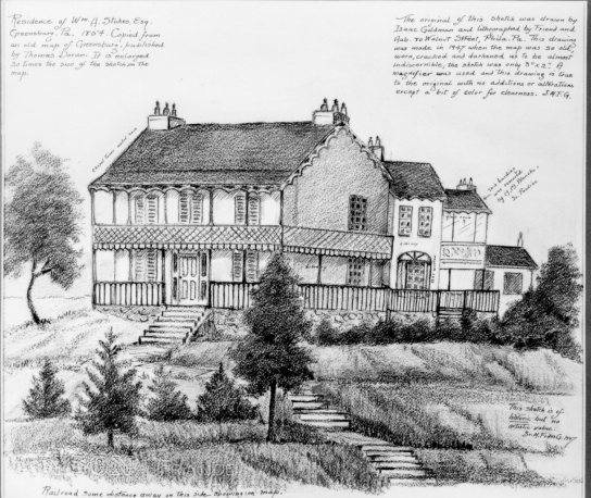 Sister Fides Glass, Sketch of the Stokes Mansion